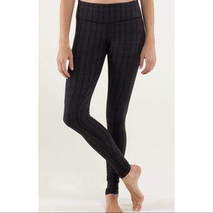 Lululemon Wunder Under Pant textured* ziggy black